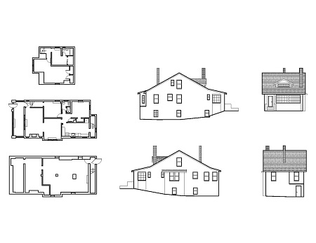 Residential house drawings.