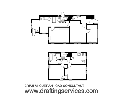 The first and second floor as-is floor plans.
