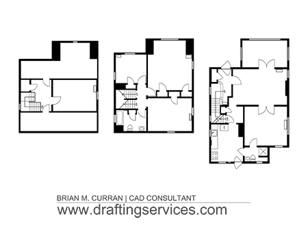 Cad floor plans gurus floor for Floor plan drafting services