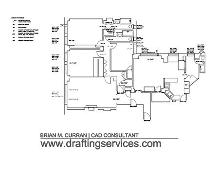 A project sample of floor plan measured drawings.