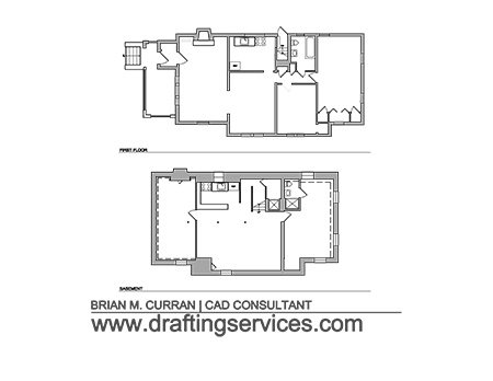 House drawing samples autocad for Floor plan drafting services