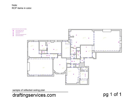 Floor plan and RCP combined.